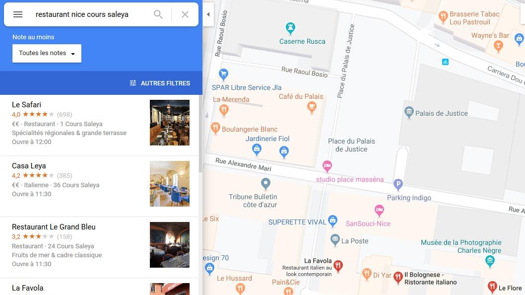 Google Maps propose d'afficher les meilleurs plats des restaurants